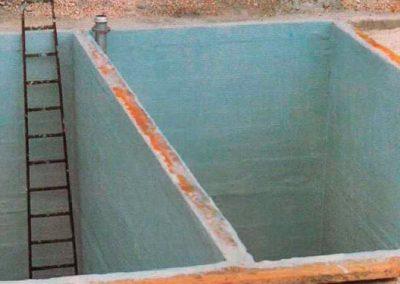Impermeabilización de Suelos con Poliéster Epoxi en Depósitos